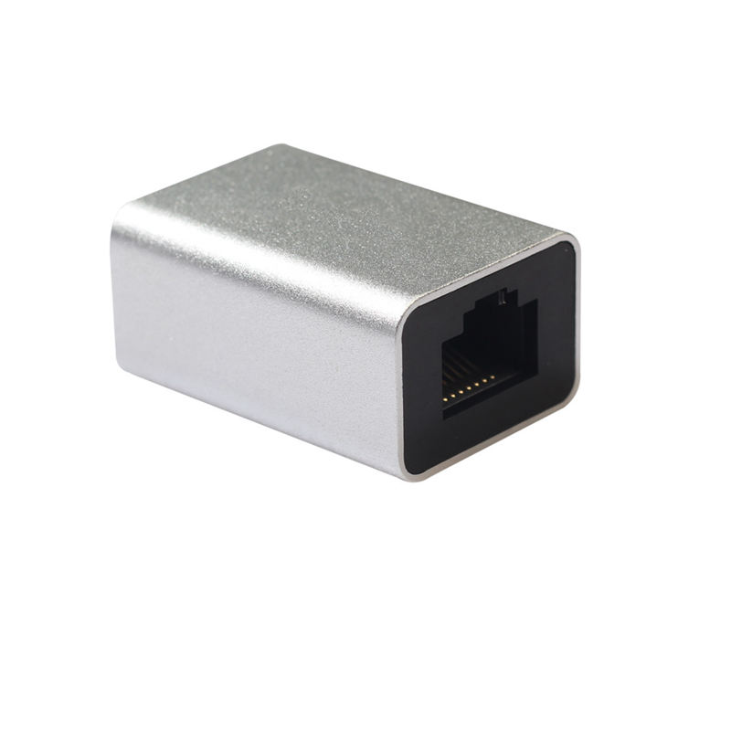 Aluminum Alloy Cat6 Rj45 8P8C Network Jack In Line Coupler Female To Female Female Coupler Lan Cable Patch Cord Extender-in Computer Cables & Connectors from Computer & Office