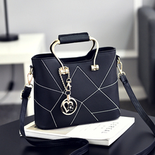 LEFTSIDE 2017 Casual Small Lock Bow Tote Handbags ladies PU leather hand bags Mini Shoulder Messenger bags Crossbody Bag Black