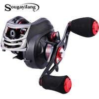 Sougayilang 11+1BB Gear Ratio 6.3:1 Bait Casting Fishing Reel Baitcasting Reel Left/Right Hand Lure Fishing Reel