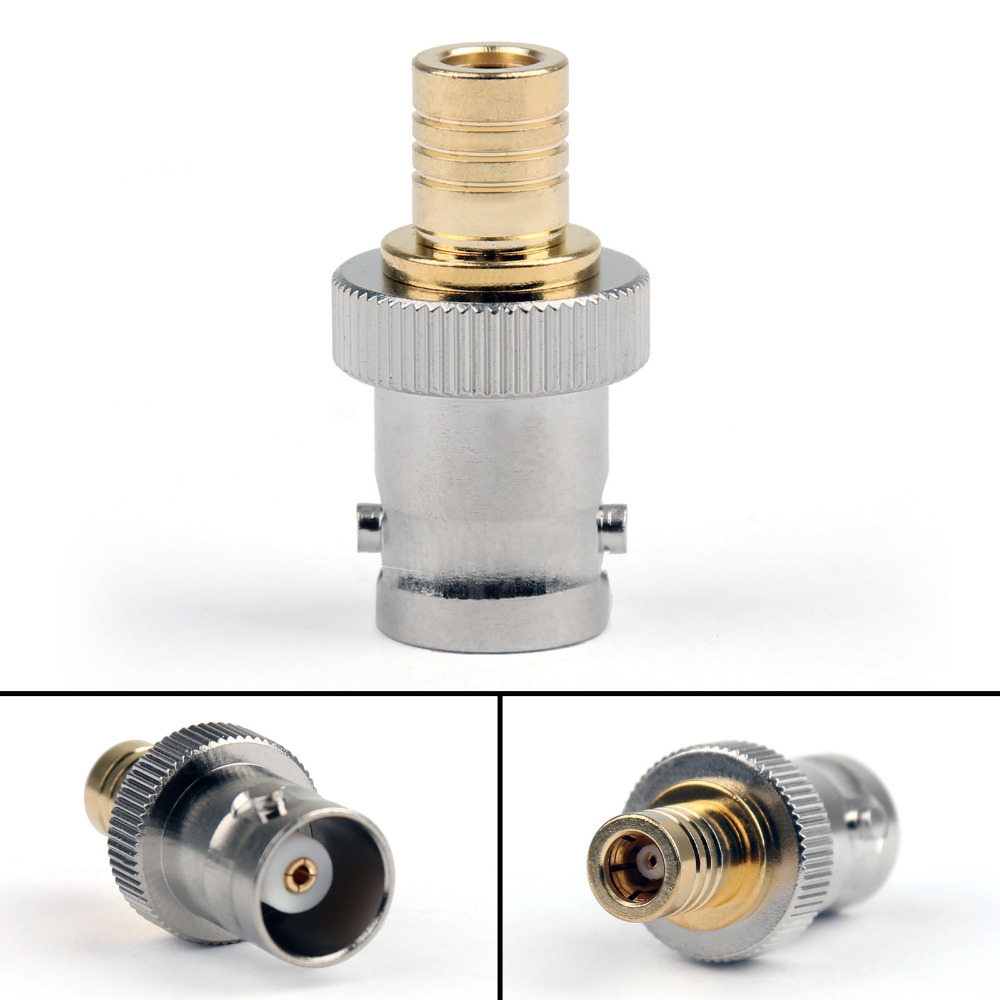 Areyourshop Adapter Converter BNC Female To SMB Female Jack RF Connector Straight Brass 10Pcs Wholesale Connector for Wire Cable areyourshop female to female connector stereo adapter 1 8 inches 3 5mm jack plug audio connector 50 pcs high quality adapter