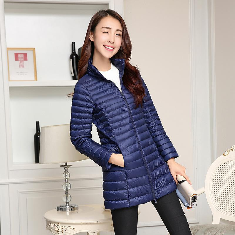 Down     Coat   Female Women Winter Jacket   Down     Coat   Female Zipper Slim 90% White Duck   Down   Ultra Light Plus Size Warm