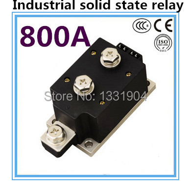 цена на LED indicator DC to AC SSR-H800ZF 800A SSR relay input DC 3-32V output AC1200V industrial solid state relay