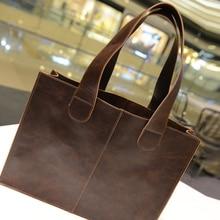 2016 new Korean Metrosexual Europe retro tassel casual fashion internal spacer portable shoulder briefcase free shipping