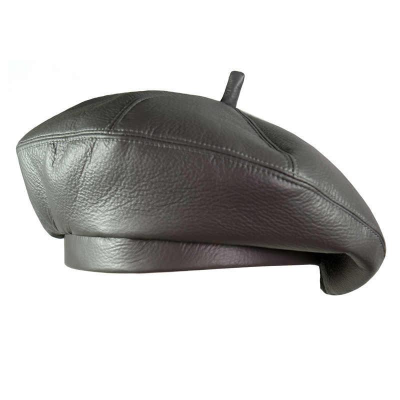 2018 г. модные женские туфли из искусственной кожи Восьмиугольные шапочки Newsboy кепки Винтаж капот берет стиль ретро кожа шляпа ковбой