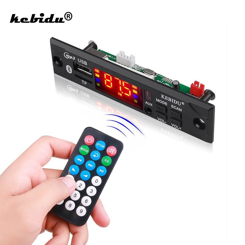 Беспроводной Bluetooth декодер kebidu, плата модуля MP3 WMA WAV AUX 3,5 мм, автомобильный аудио mp3-плеер, USB TF FM декодер, плата с дистанционным управлением