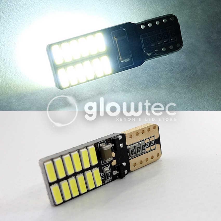 10 adet CANBUS T10 24smd led ışık ampul araba hata yok 3014 12V süper parlak gümrükleme ampul lamba beyaz sarı mavi kırmızı
