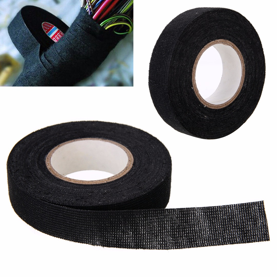1pc-heat-resistant-wiring-harness-tape-looms-wiring-harness-cloth-fabric-tape-adhesive-cable-protection-19mm-x-15m