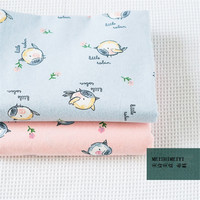 Hand Painted Wind Fat Bird Cartoon Autumn Winter Pure Cotton Cloth Children S Clothing Fabric Flannel