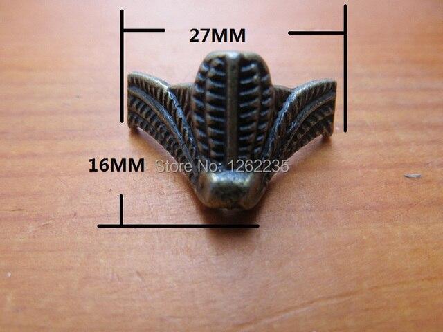 27*16mm Antika mobilya ayakları Mücevher Kutusu Şasi Hazine taban Dört köşe dekoratif ayaklar