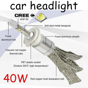 New arrival 2Pcs/Lot 12V 40W 24V LED H4 6000K Super Bright White Car Headlight Light Lamp Bulbs Fog Lamps Car Styling