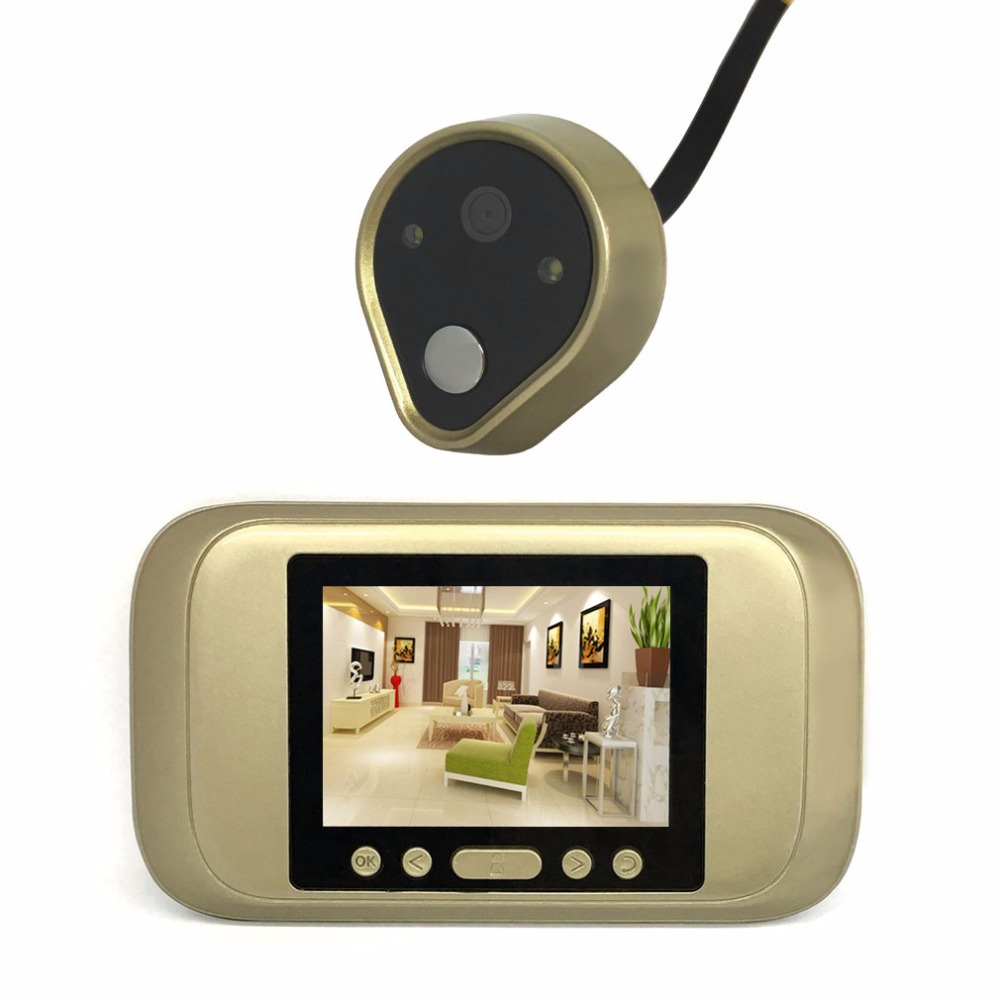 Practical Digital Door Viewer 3.2 LED Display HD Peephole Viewer Visual Doorbell For Home Security Camera TSD-A32D practical voip security