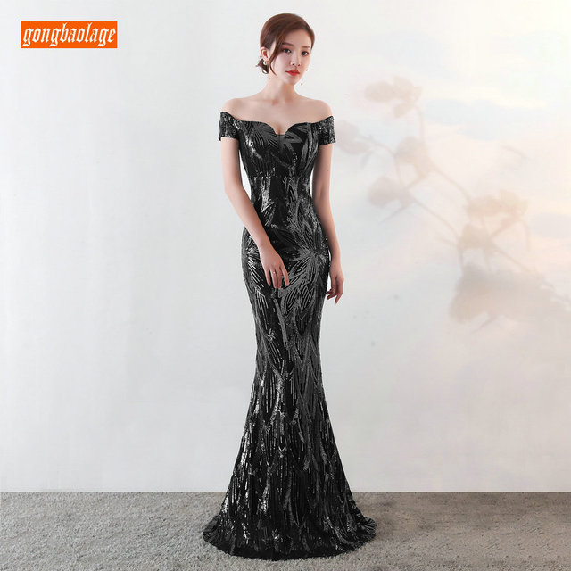 Sumptuous Mermaid Prom Dresses Women Party 2019 Reflective Dress Prom Sequined Special Occasion Dresses Formal Gowns Real Photos