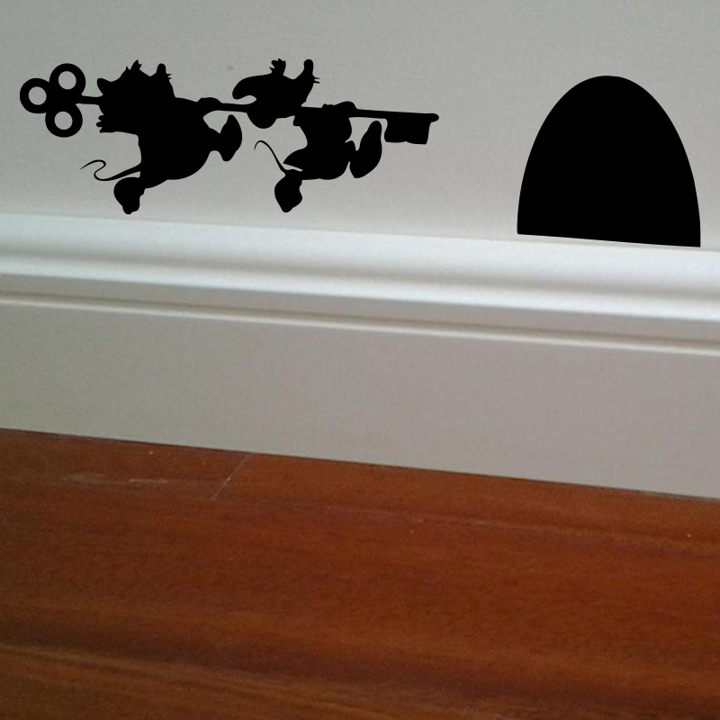 Buy jaq and gus mouse house vinyl wall for Stickers decorativos