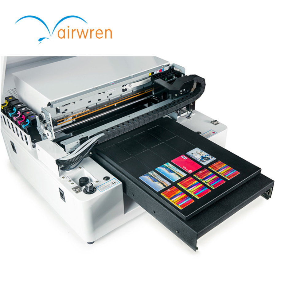 2018 Hot Sale Automatic A3 Pvc Card Printing Machine Uv Led Flatbed Printer AR-LED Mini4 hot sale custom uv led printer print on business card