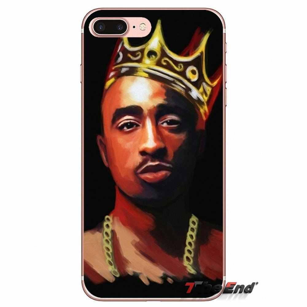 2Pac для телефона с изображением Тупака Шакура» в стиле хип-хоп и рэп, мягкий чехол для iPhone XS Max XR X 4 4S 5 5S 5C SE 6 6S 7 8 плюс samsung Galaxy J1 J3 J5 J7 A3 A5