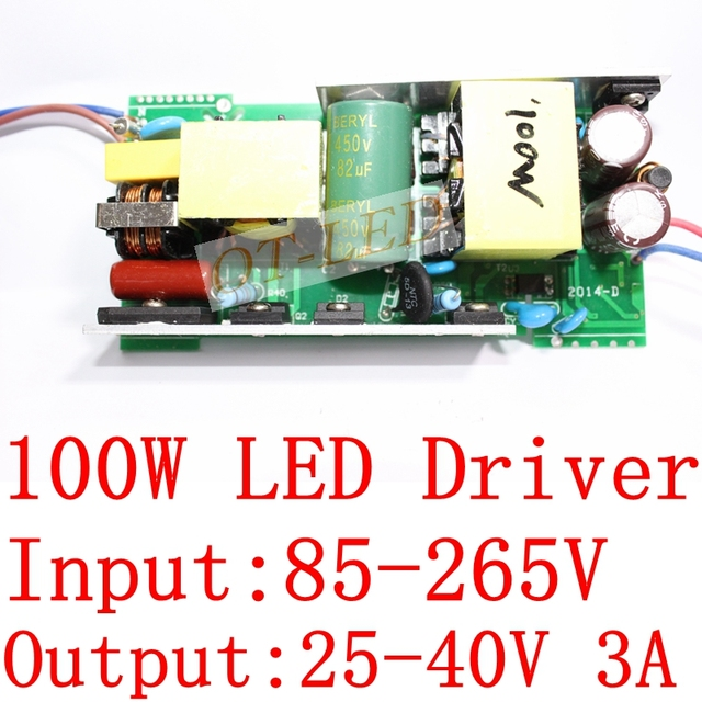100W LED Driver  adaptor power supply for 100W high power light lamp AC 85~265V to 25~40V For LED Light Lamp Bulb