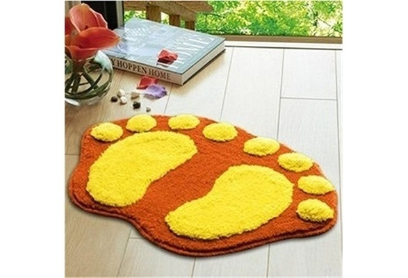 Big Feet Rug Doormat Bathroom Floor Mat Bedroom Rugs Yellow And Orange(China  (Mainland