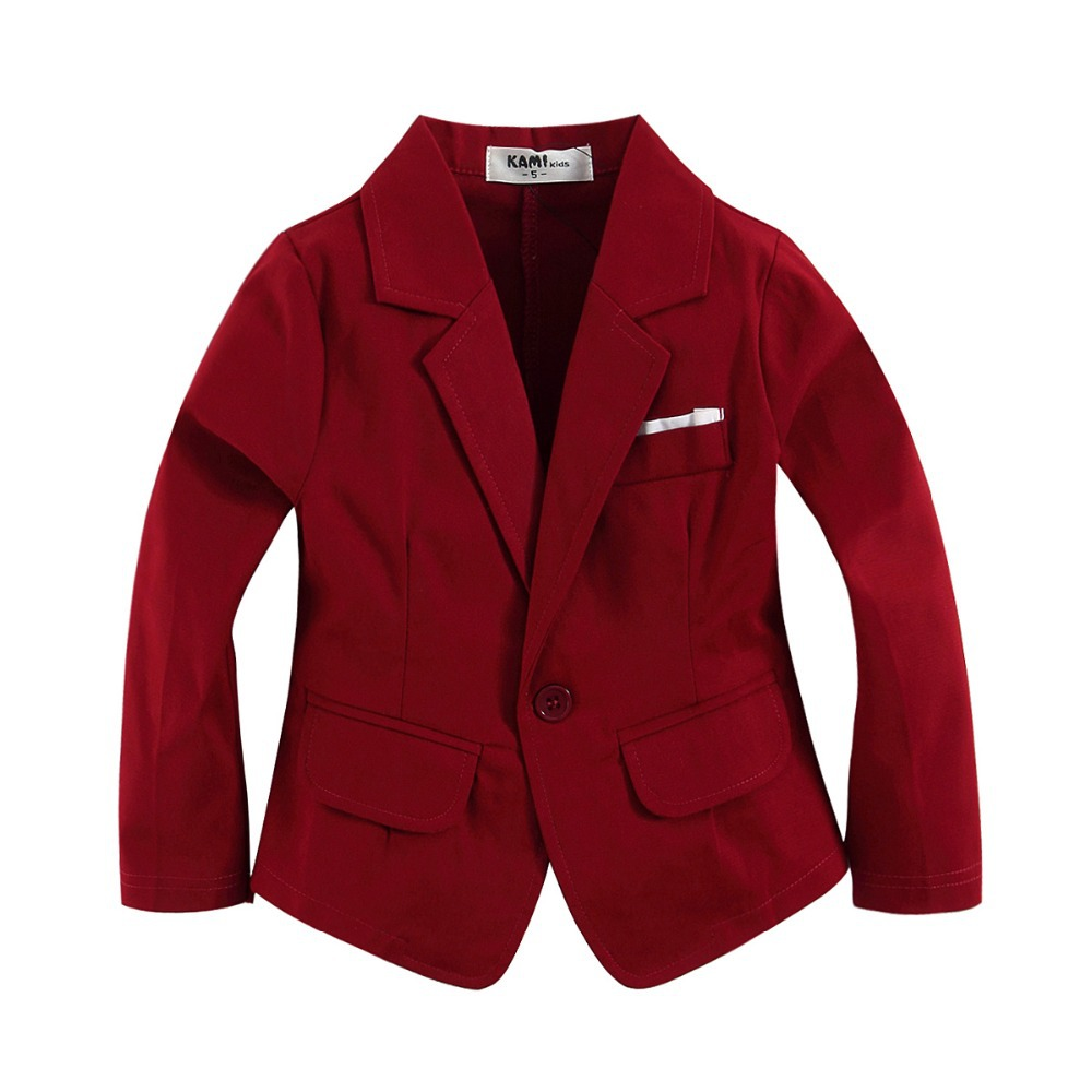 new arrival red blazer woven cotton 100% for toddler boy wine red