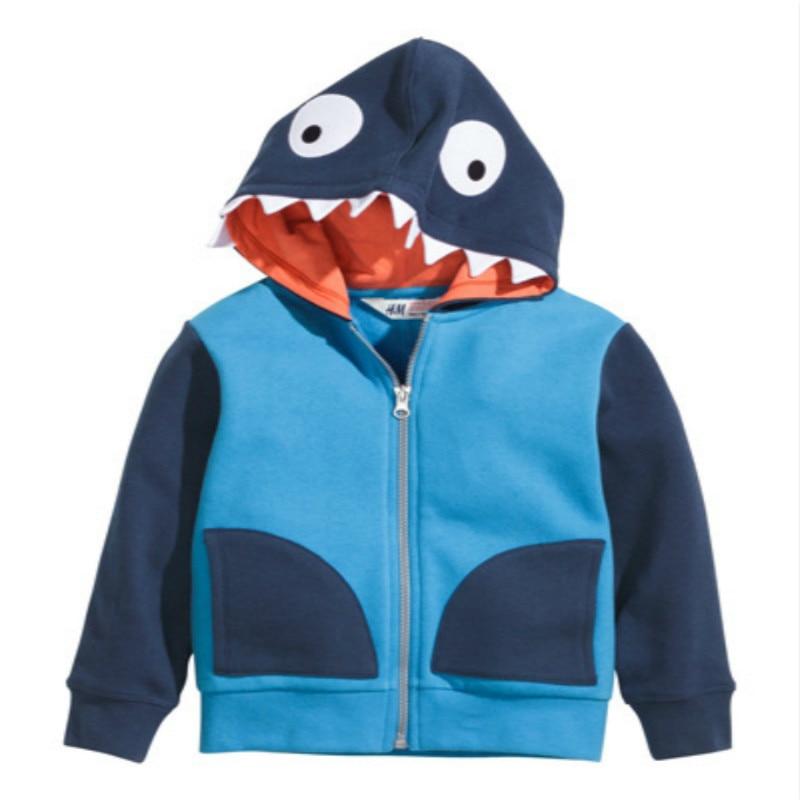 Boys Animal Hoodies Kids Spring Autumn Clothes Dinosaur Zipper Coat Children Fashion Sweatshirt 2-6 Years Baby boys Clothing 1