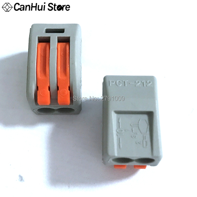 10pcs WAGO 222-415 PCT-212 PCT-213 PCT-214 PCT-215 Universal Compact Wire Wiring Connector Conductor Terminal Block Lever PCT212