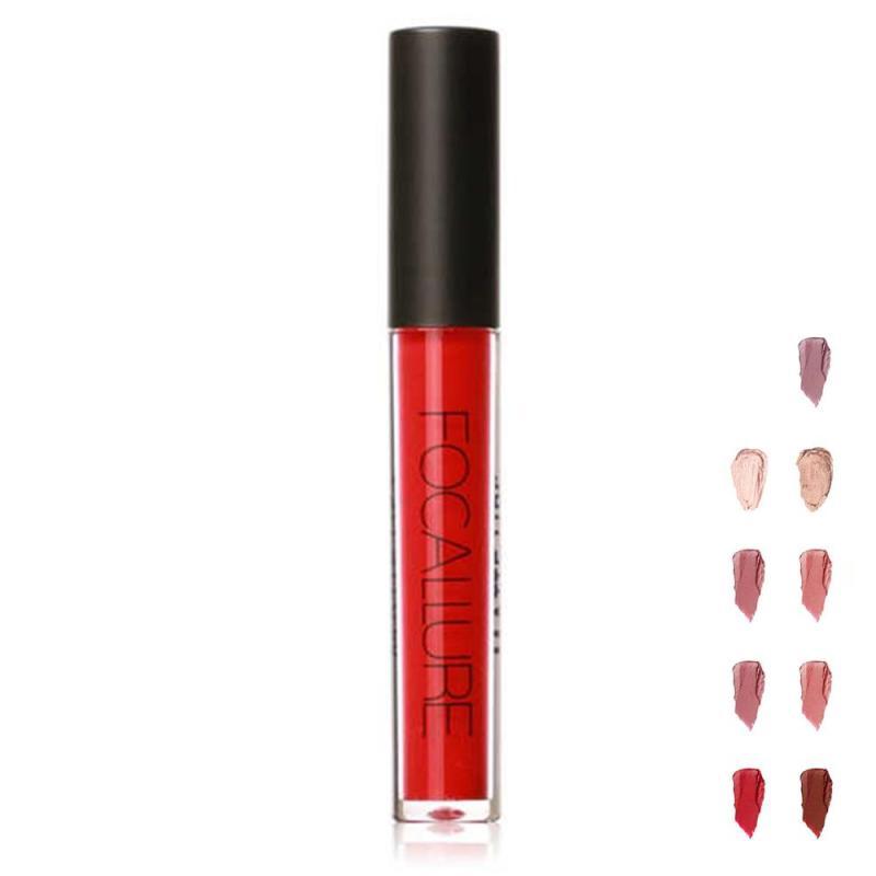 FOCALLURE 3 Colors Matte Liquid Lipstick Set Long Lasting Waterproof Nude Lip Gloss Moisturize Rouge Lip