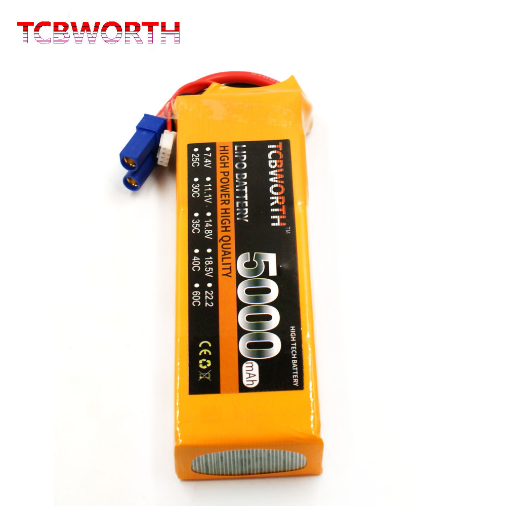 TCBWORTH RC Drone LiPo battery 7.4V 5000mAh 35C 2S For RC Airplane Quadrotor Helicopter AKKU Car Truck Li-ion battery 1s 2s 3s 4s 5s 6s 7s 8s lipo battery balance connector for rc model battery esc