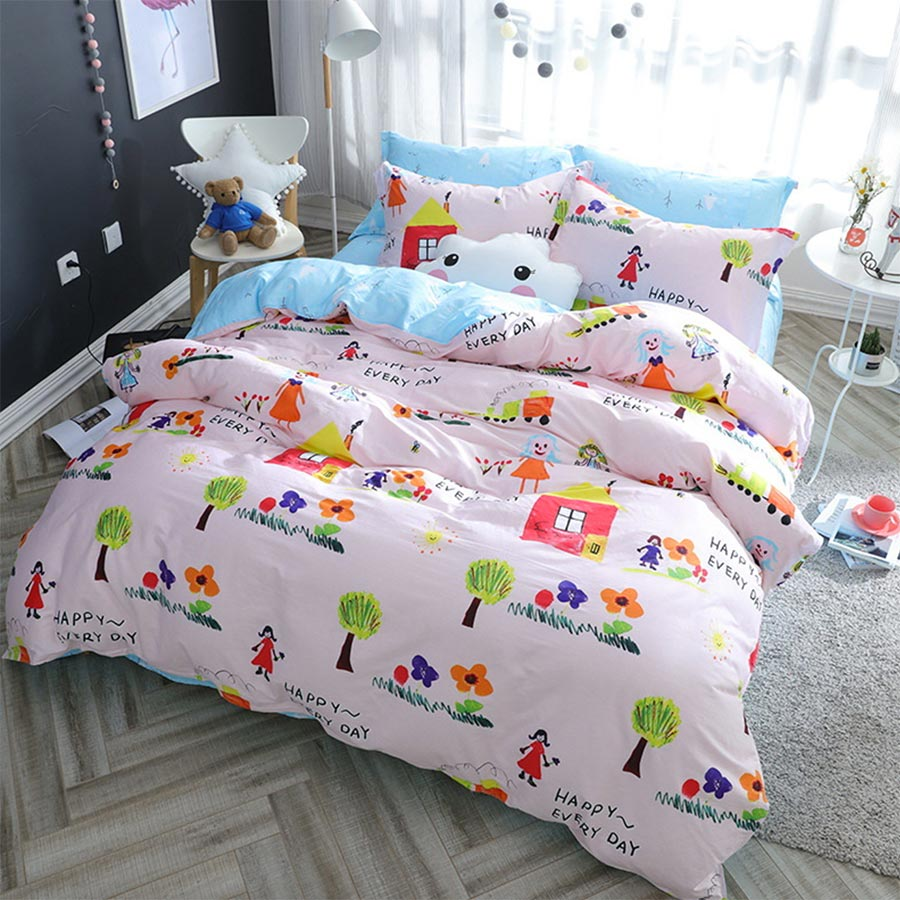 popular train comforter setsbuy cheap train comforter sets lots  - character bedding set adult teen kidcotton full queen cute colorfulcartoon train home textile
