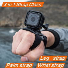 3 in 1 360 Degree Rotary Glove Mount + Wrist Strap Leg for GoPro Hero 7 6 5 4 SJCAM Accessories