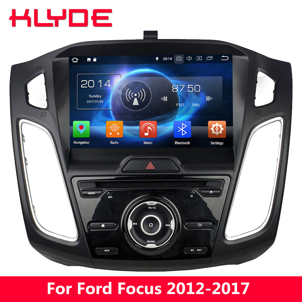 KLYDE 9 Octa Core 4G Android 8.0 7.1 4GB RAM 32GB ROM BT Car DVD Multimedia Player For Ford Focus 2012 2013 2014 2015 2016 2017 free mic 4gb ram 32gb rom octa core android 8 0 car dvd gps for ford focus 3 2012 2014 with radio bt wifi dvr mirror link obd