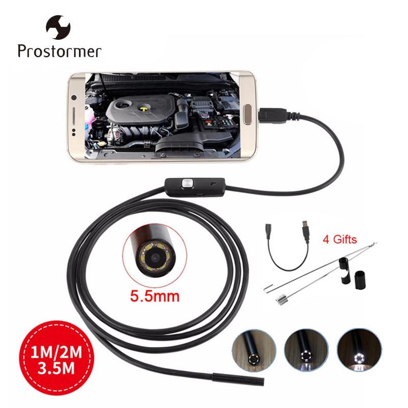 Endoskope Werkzeuge Prostormer 5,5mm Usb Endoskop Android Kamera Schlange Rohr Inspektion Endoskop Wasserdicht Endoscopio 1 Mt 2 Mt 3,5 Mt Volumen Groß