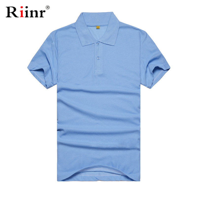 Riinr High Quality Men   Polo   Shirt Mens short Sleeve Solid   Polo   Shirts Camisa   Polos   Masculina 2019 Casual Cotton Plus size