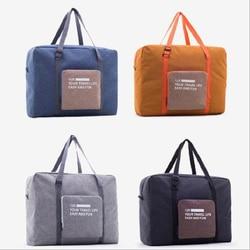 Packable ترحيل على حقيبة من القماش الخشن المرأة حقيبة سفر قابلة للطي للجنسين سفر حقائب للماء حقيبة سفر كبيرة قدرة حقيبة