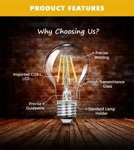 TSLEEN Vintage COB E27 LED Lamp Edison Lampada LED Bulb 110V 220V G45 A60 ST64 Filament Light 4W 8W 12W 16W Retro Light Ampoule