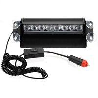 10x) Auto Voertuig 8 LED Emergency Dash Deck Truck Waarschuwing Strobe Flash Light Wit