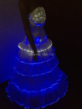 Optical fiber leucht kleid für abend party/cocktailkleid/Leucht rock, licht anzug