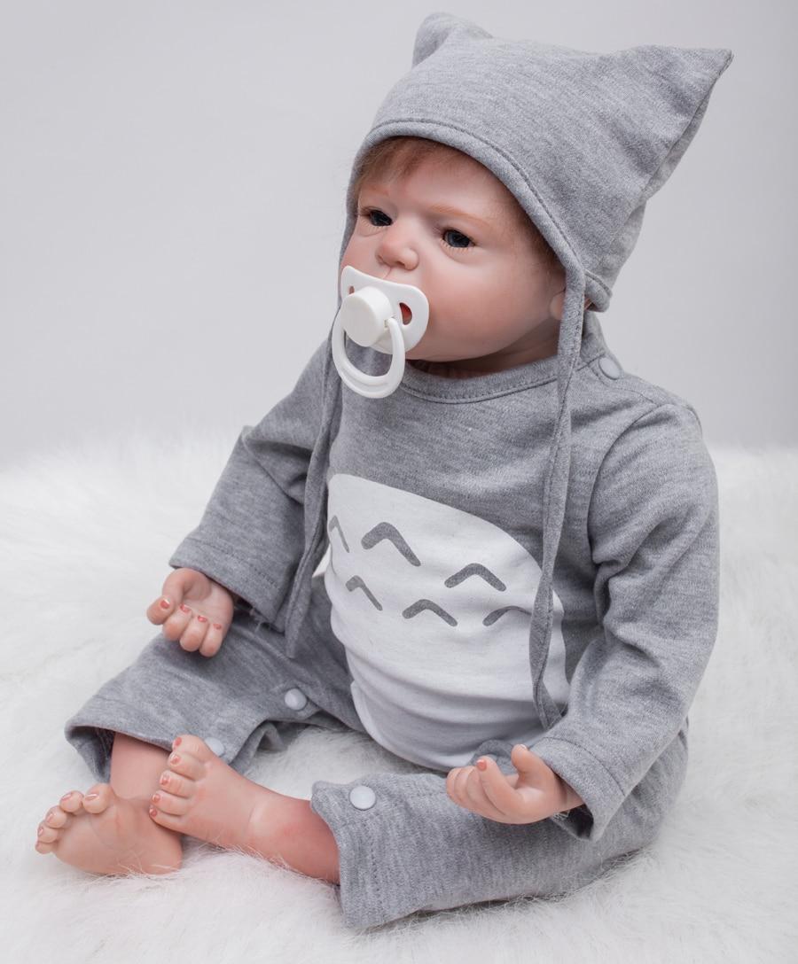 Clothes 55cm Handmade Lifelike Baby Silicone Vinyl Reborn Newborn Boy Girl Doll