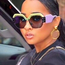 SHAUNA New Colors Fashion Women Half Frame Sunglasses Men Blue Tinted Square Lens Glasses UV400