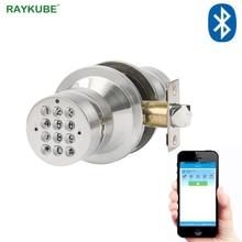 RAYKUBE topuzu elektronik dış kapı kilidi ile Bluetooth dijital şifreli kapı kilidi APP şifre anahtarsız açılış giriş ev