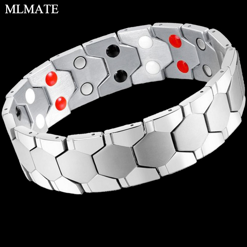 Beautiful 4 Elements High Quality Luxury Health Bracelets & Bangles Magnetic 316l Stainless Steel Charm Bracelet Jewelry For Man Woman In Many Styles