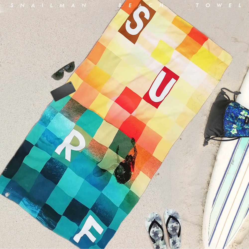 Marca surf toalla microfibra viaje Picnic toalla surf buceo Hawaii compacto Toalla de playa