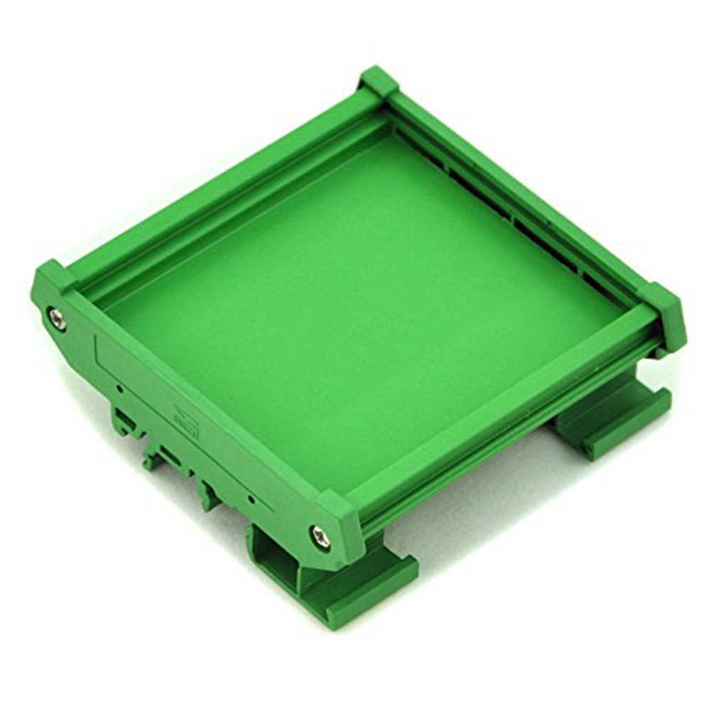 Module PVC Durable Adapter Housing Carrier Board Holder Bracket DIN Rail Mount PCB Green Practical