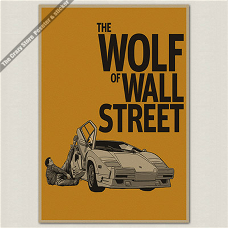 The Wolf of Wall Street Oscar Poster retro decorative painting wall sticker