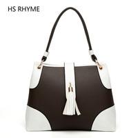 HS RHYME New Fashionl Women Tote Bag Casual Ladies Shoulder Shopping Bags Tassel Zipper Original Design