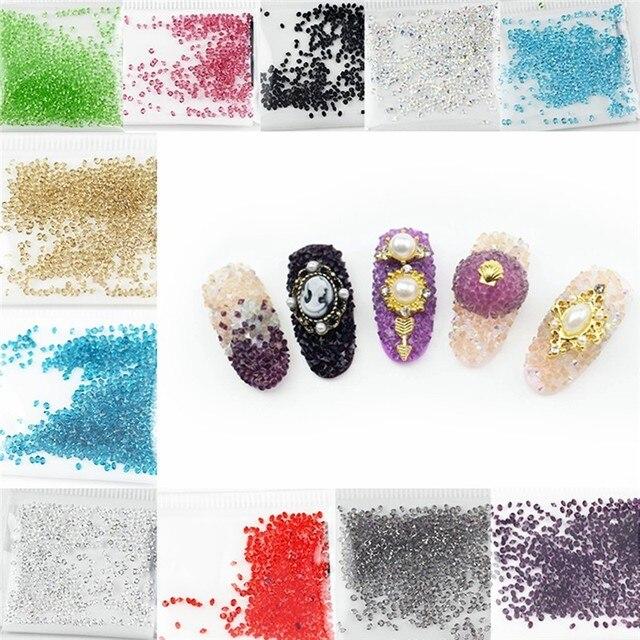New 1 pack Micro Diamond DIY Nails Rhinestones Crystal Flat Back Non ...