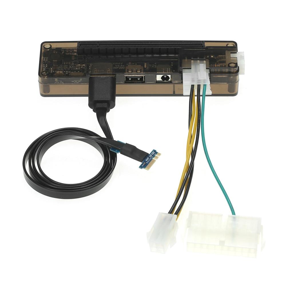 Ordinateur portable Externe Indépendant Vidéo Carte Graphique Dock Mini PCI-E/NGFF M.2 Un/E clé/Expresscard Version pour V8.0 EXP GDC Bête