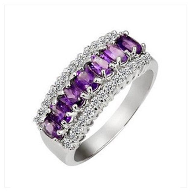Lujoso anillo de amatista