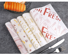 100 Pcs 26x36cm Wax Paper Food Grade Disposable Bread Fries Sandwich Burger Wrapping Oil-proof Customizable