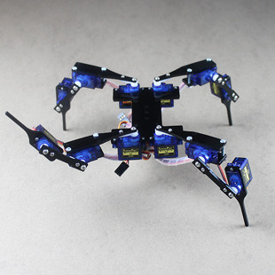 ФОТО DIY Four Feet Hexapod3 12 DOF Mini RC Quadruped Robot With Servo