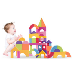 50PCS Ultra-light Colorful EVA Foam Building Block Brick Set Kid Child Soft Toy Gift Christmas Educational Toy