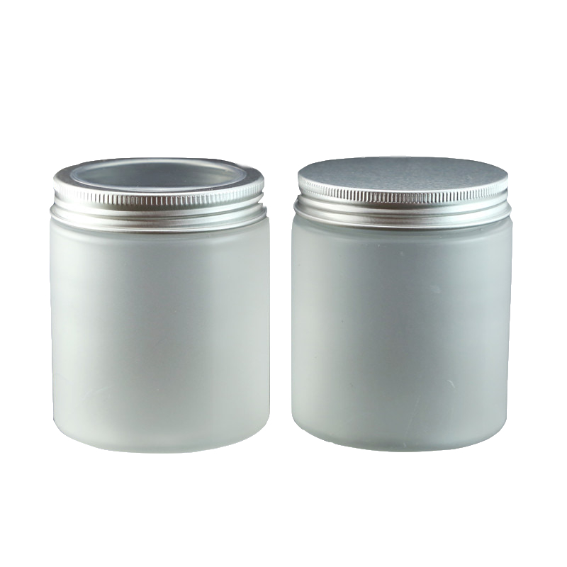 30pcs/lot 8oz cosmetic jars wholesale see-through lid skin care products cosmetic package design 250g frost clear plastic jars lid